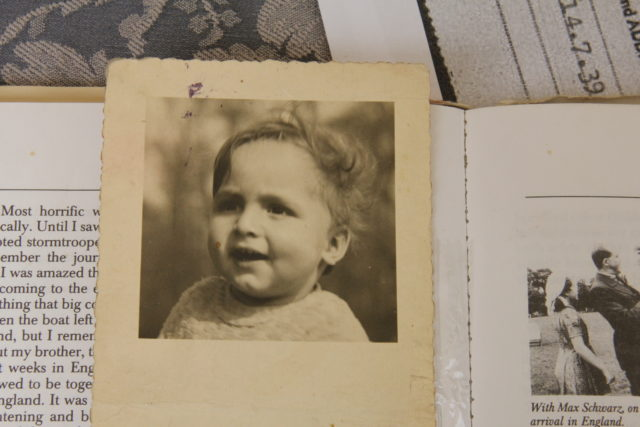 Paul Alexander, who was rescued by the Kindertransport, pictured on his first birthday. (World Jewish Relief/ PA)