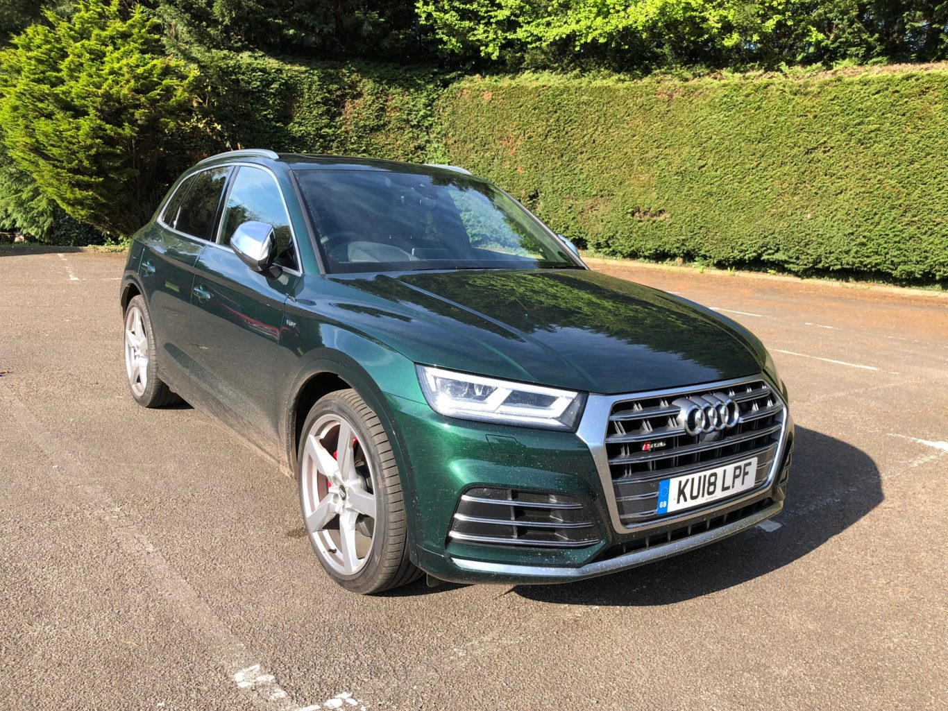 'Our' SQ5 is finished in a striking green metallic paint