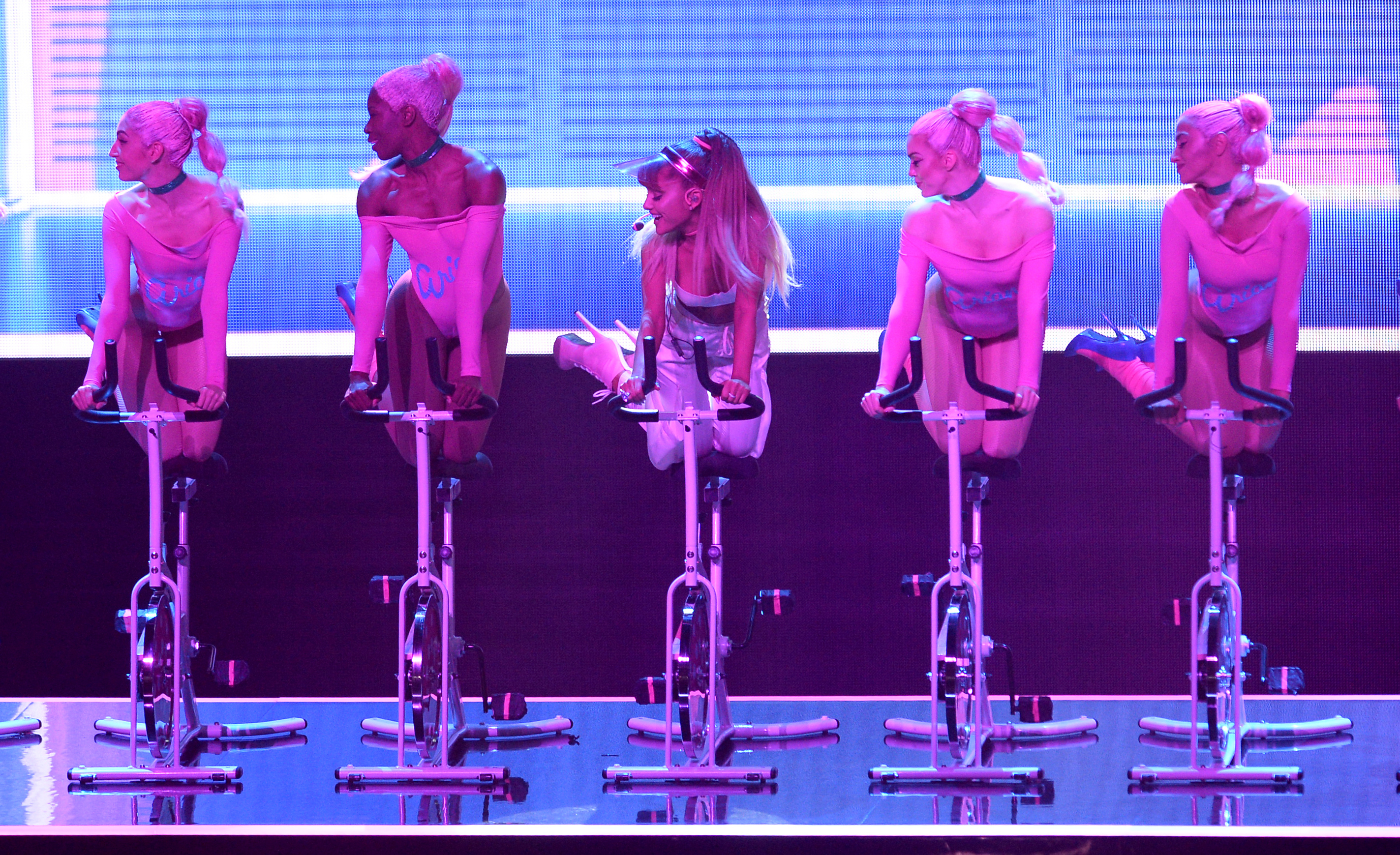 Ariana Grande performs on stage during the show at the MTV Video Music Awards 2016, Madison Square Garden, New York City.