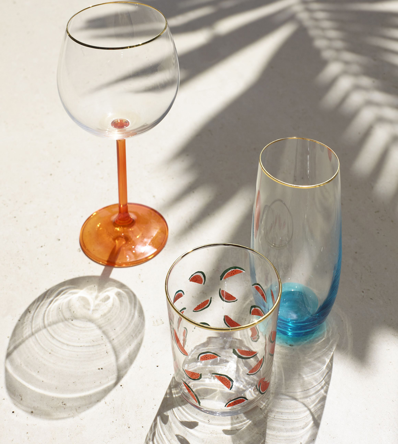 Selection of Poolside stemware and tumblers, John Lewis