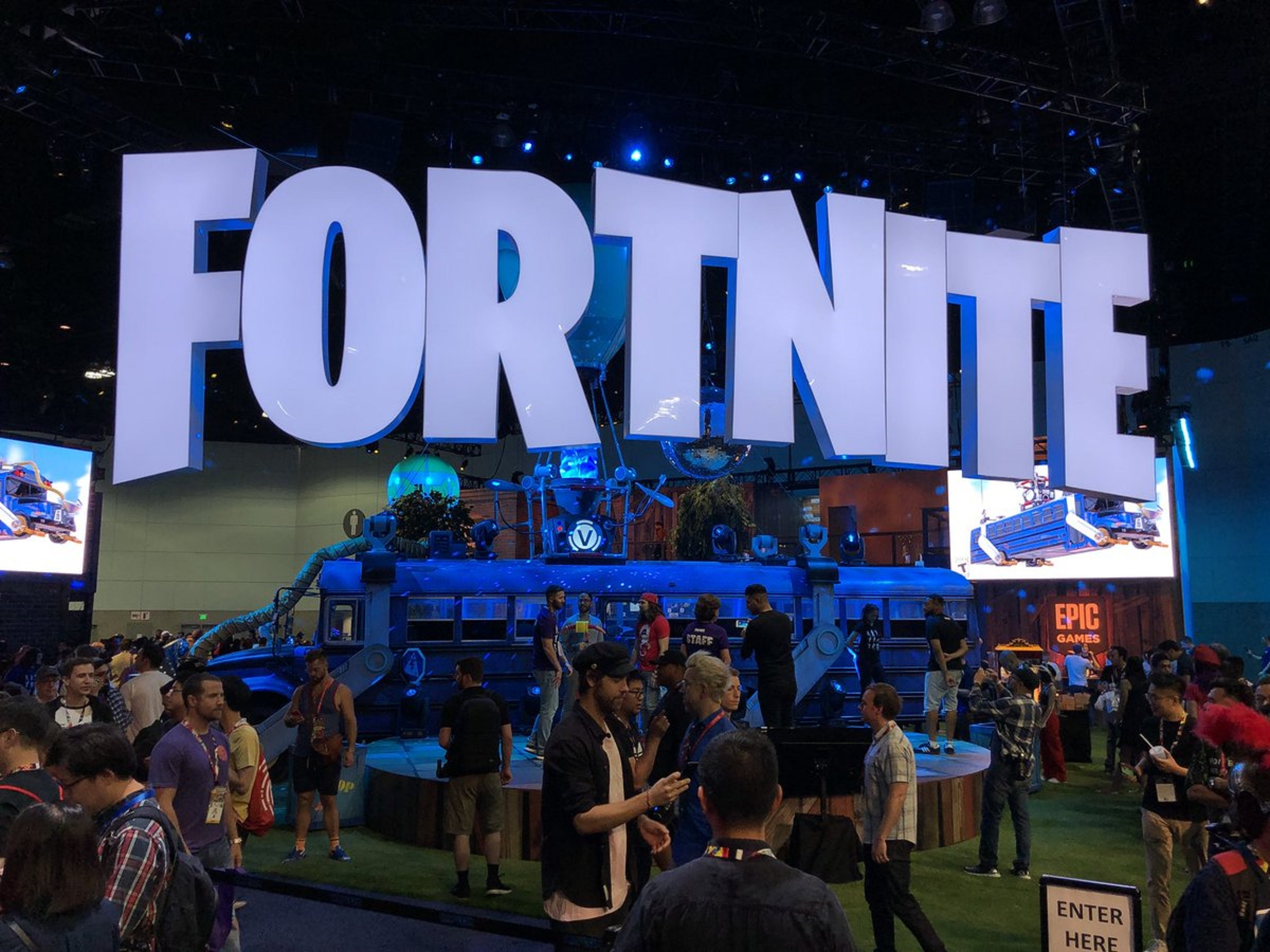 Fortnite's floor space at E3 2018