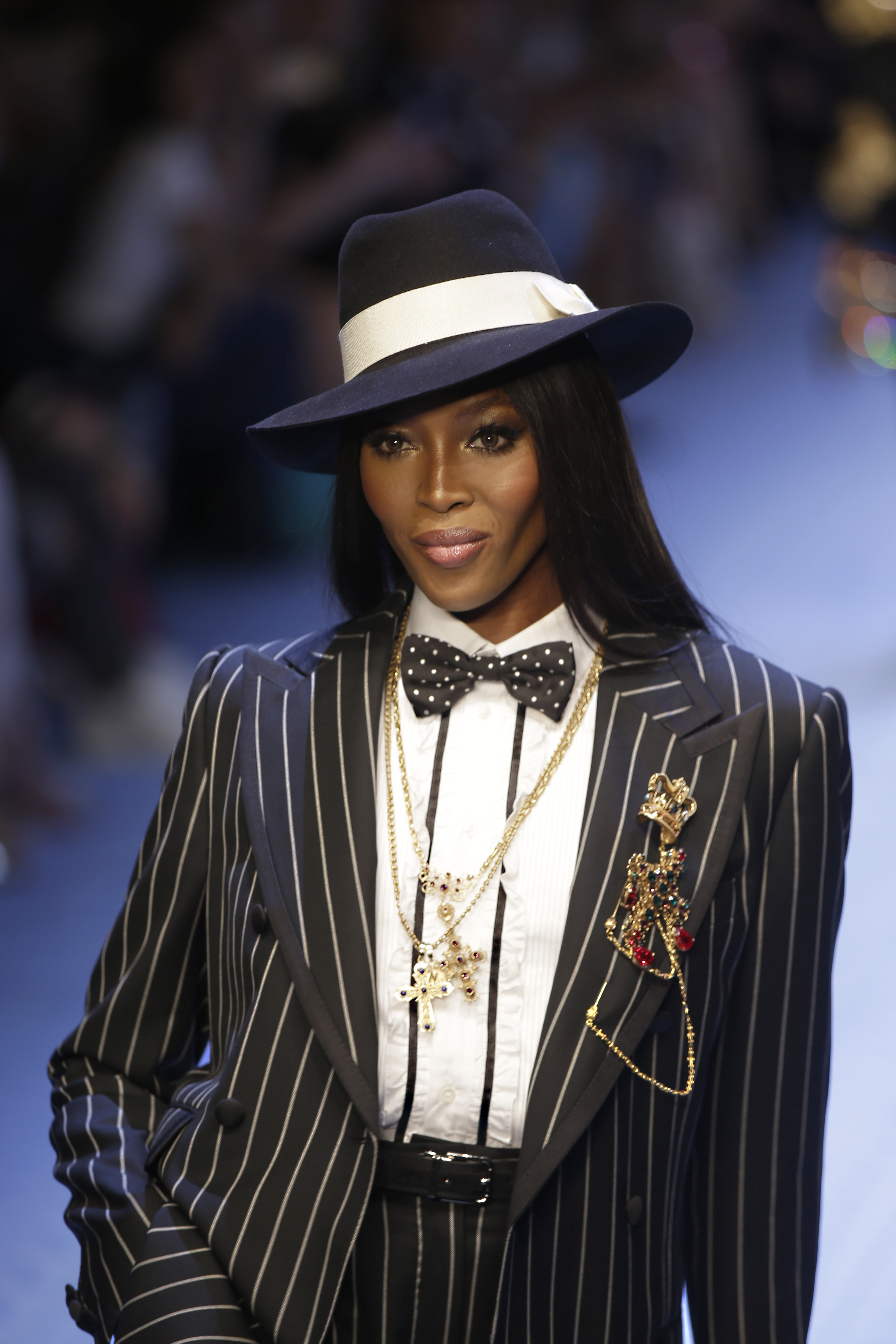 Naomi Campbell in the D&G show