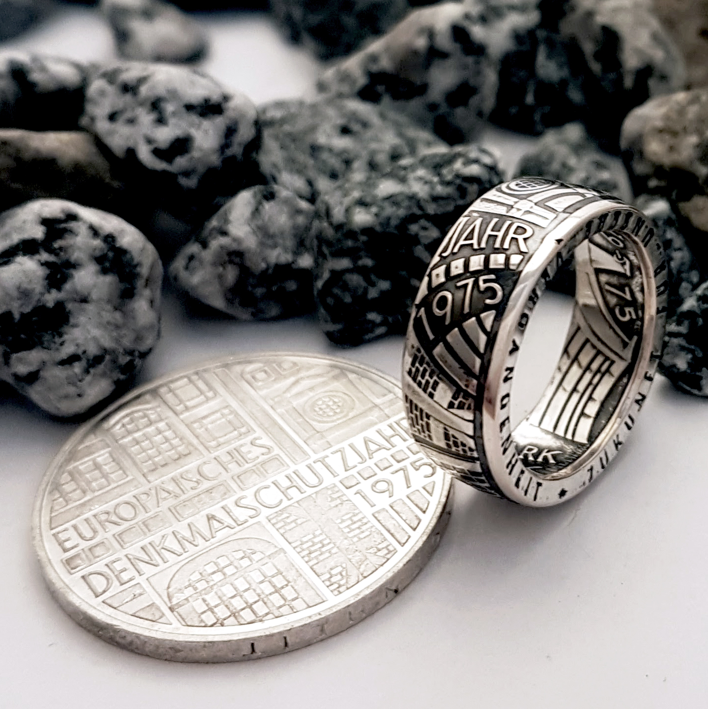 A German coin made into a ring by Celtic Coin Crafts