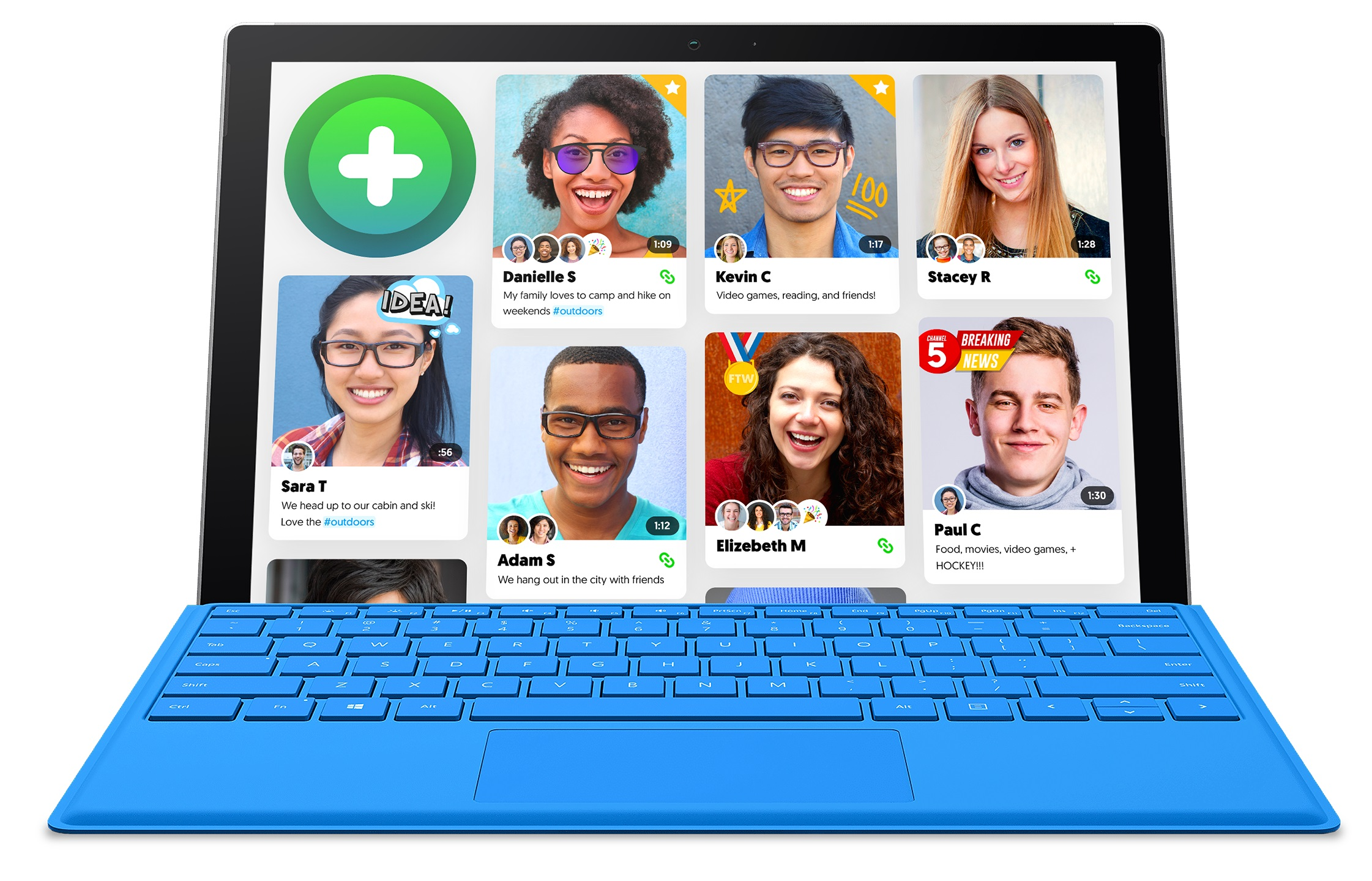 The Flipgrid interface on a laptop