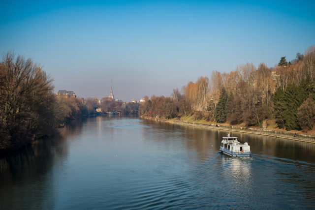 Po River in Turin.