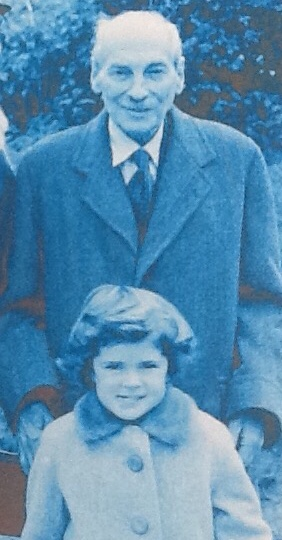 Jo Roundell Greene pictured with her grandfather Clement Attlee when she was aged five (family handout/PA)