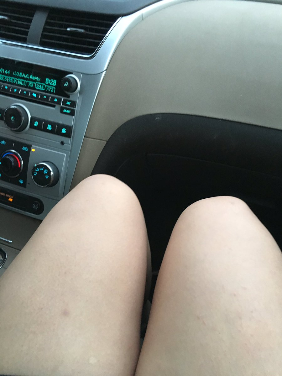 Legs to the centre of the car