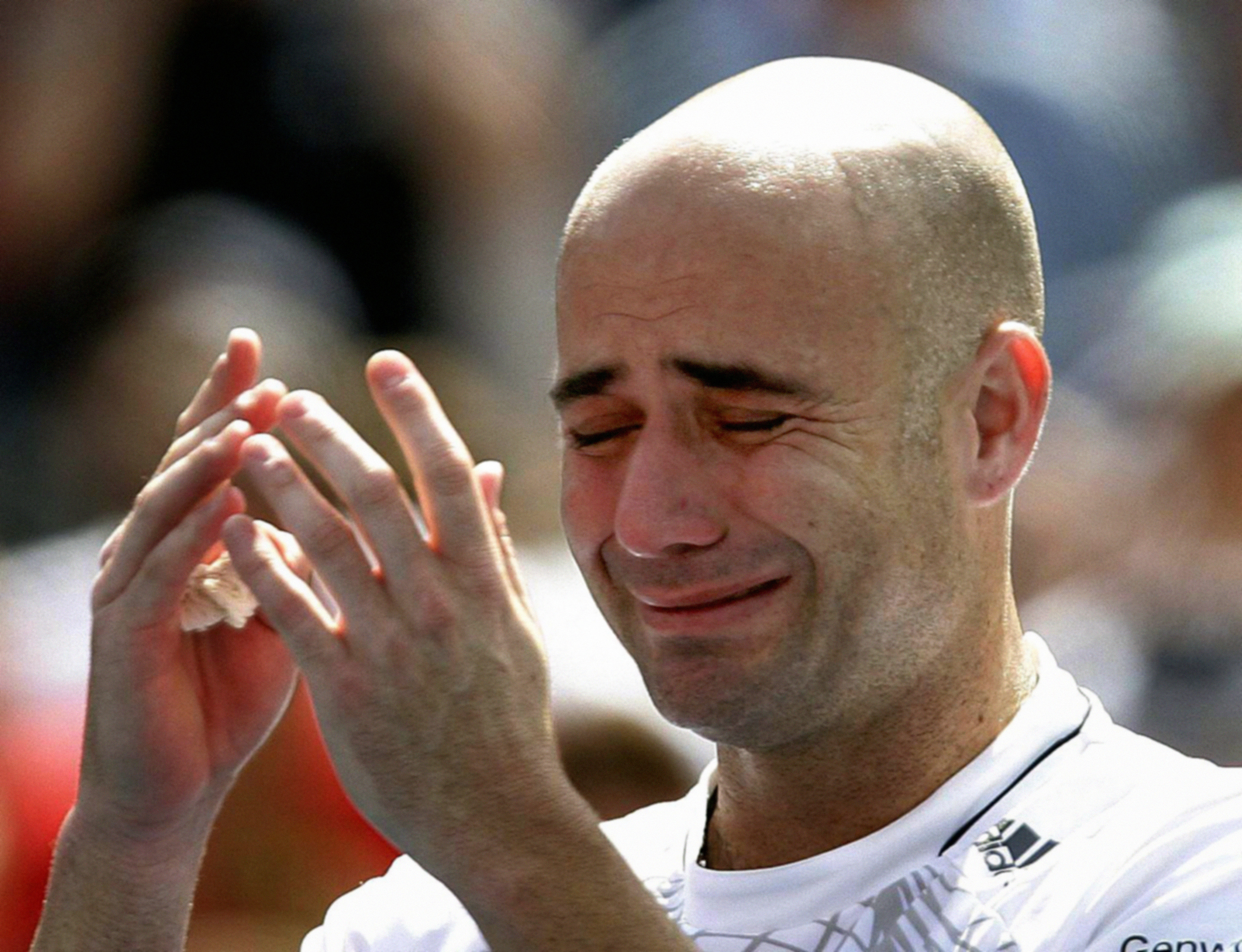 Andre Agassi after losing to Germany's Benjamin Becker in the third round of the US Open at Flushing Meadow, New York in 2006 (PA)