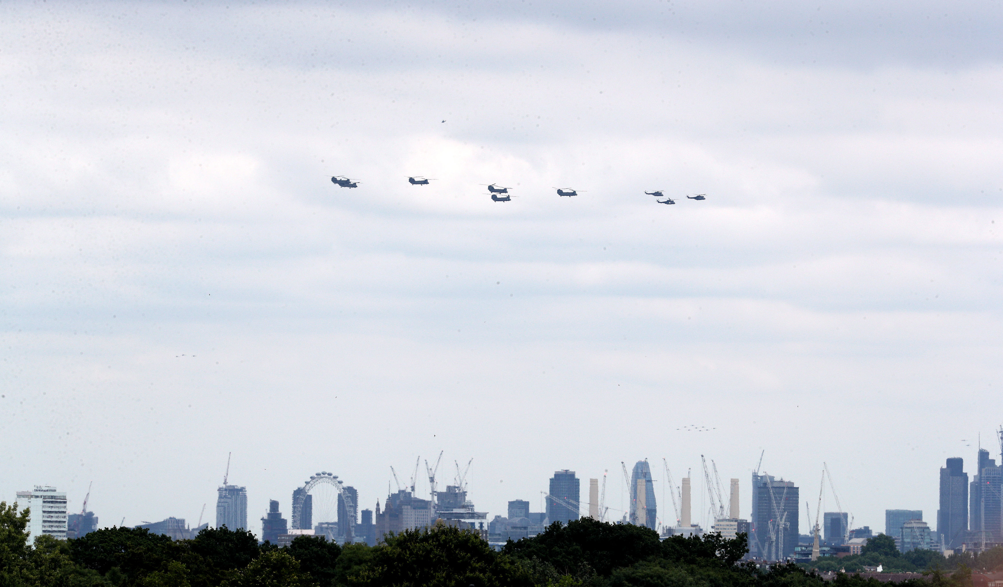 Helicopters over London