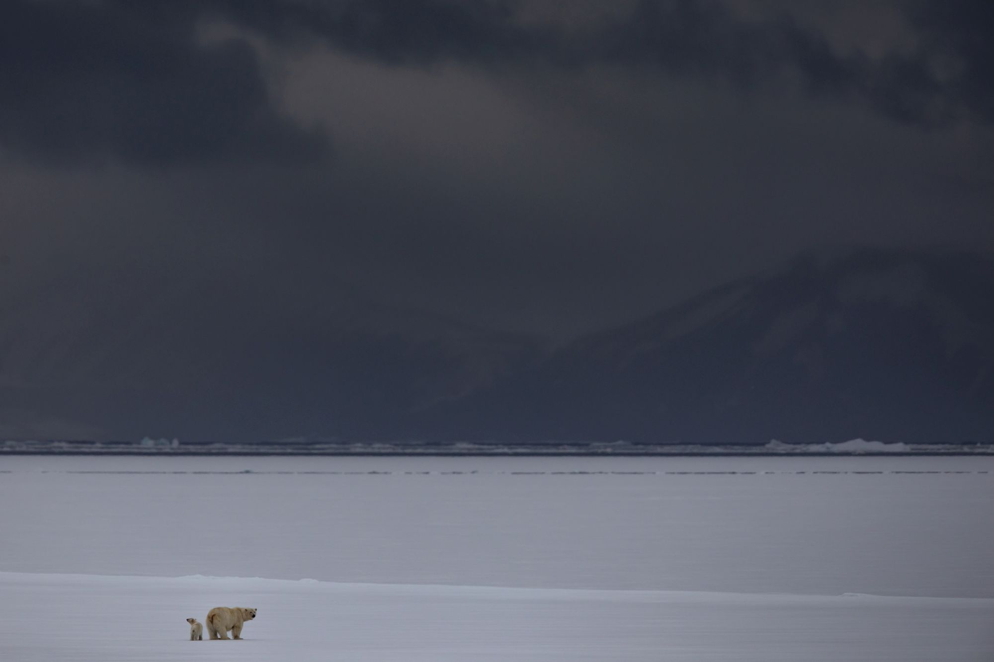 Svalbard's famous brooding skies (Paul Goldstein/PA)