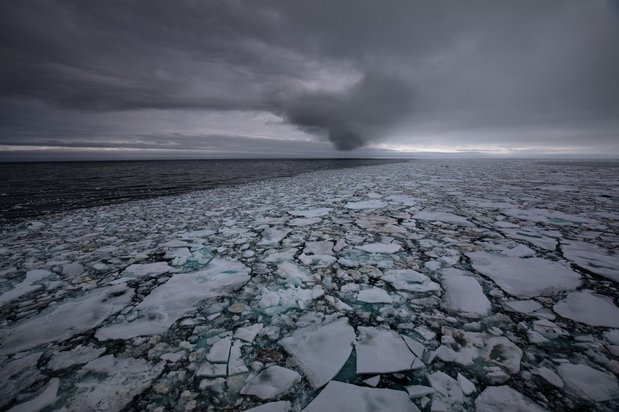 Fragmenting sea ice (Paul Goldstein/PA)