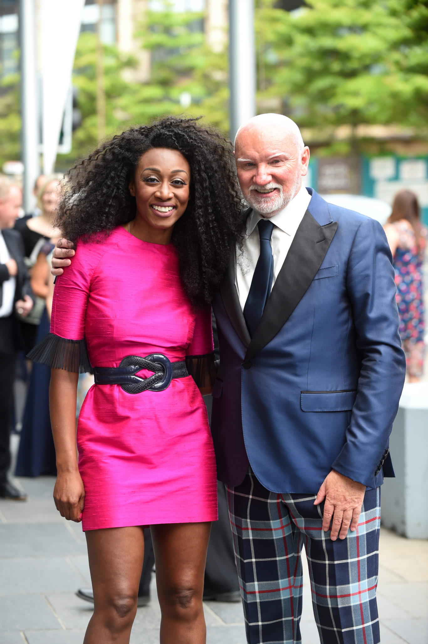 Sir Tom Hunter and singer Beverley Knight arrive at the EICC