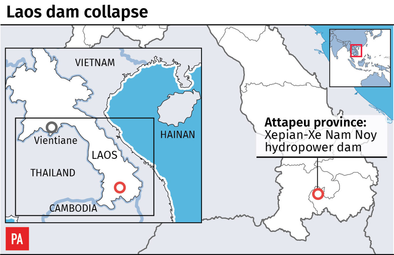Latest: Flooding from Laos hydroelectric dam leaves hundreds missing ...
