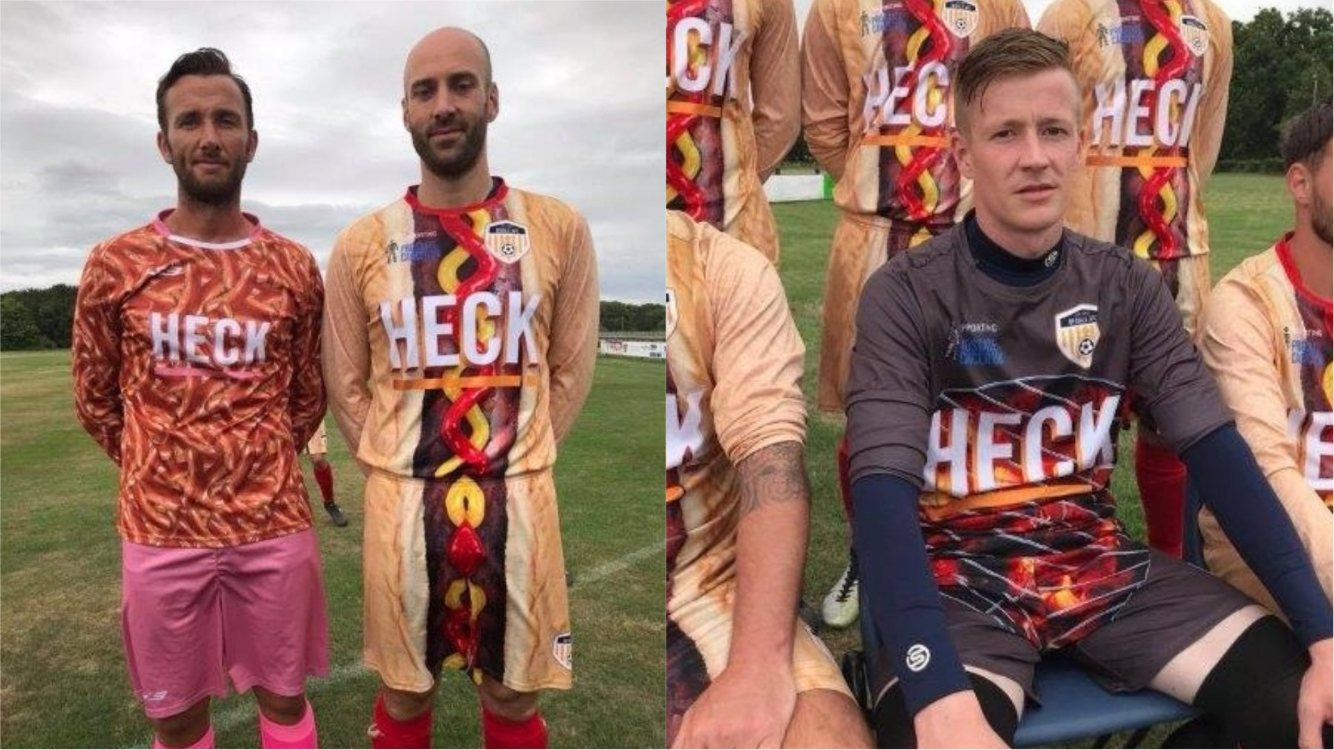 (From left to right) Bedale AFC's 2017/18 kit, 2018/19 kit and 2018/19 goalkeeper kit