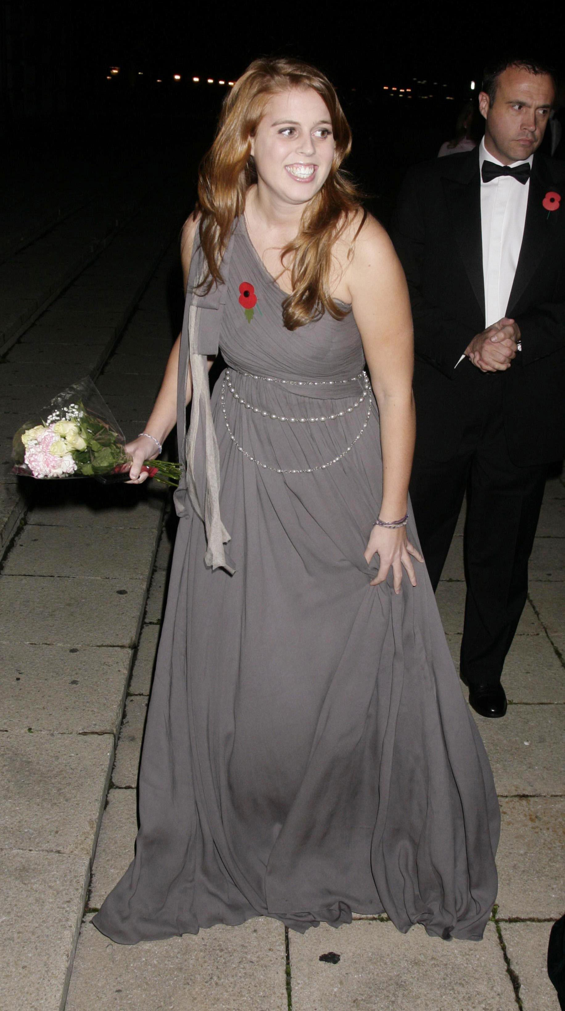 Princess Beatrice arrives for the Children in Crisis fundraising dinner in 2008