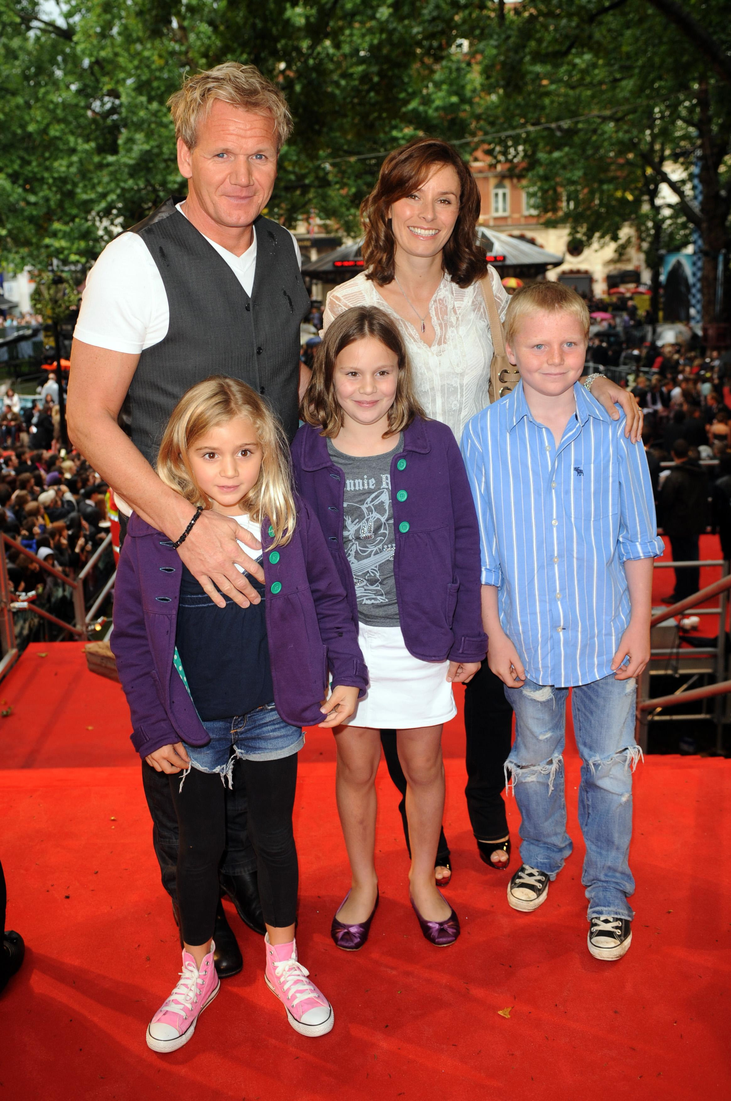 Gordon Ramsay and family in 2009 (PA)