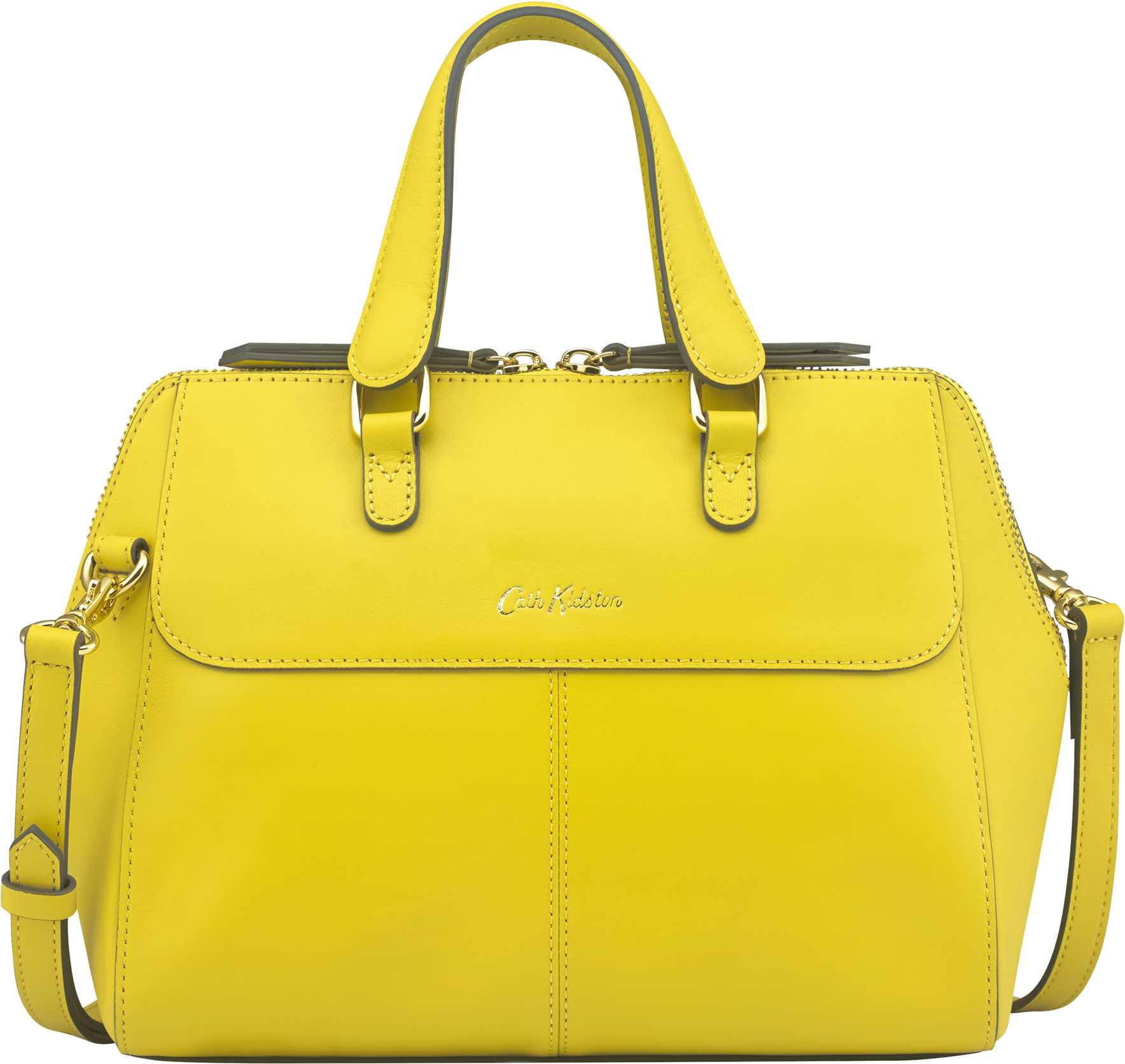 Cath Kidston Golden Yellow Henshall Leather Bag