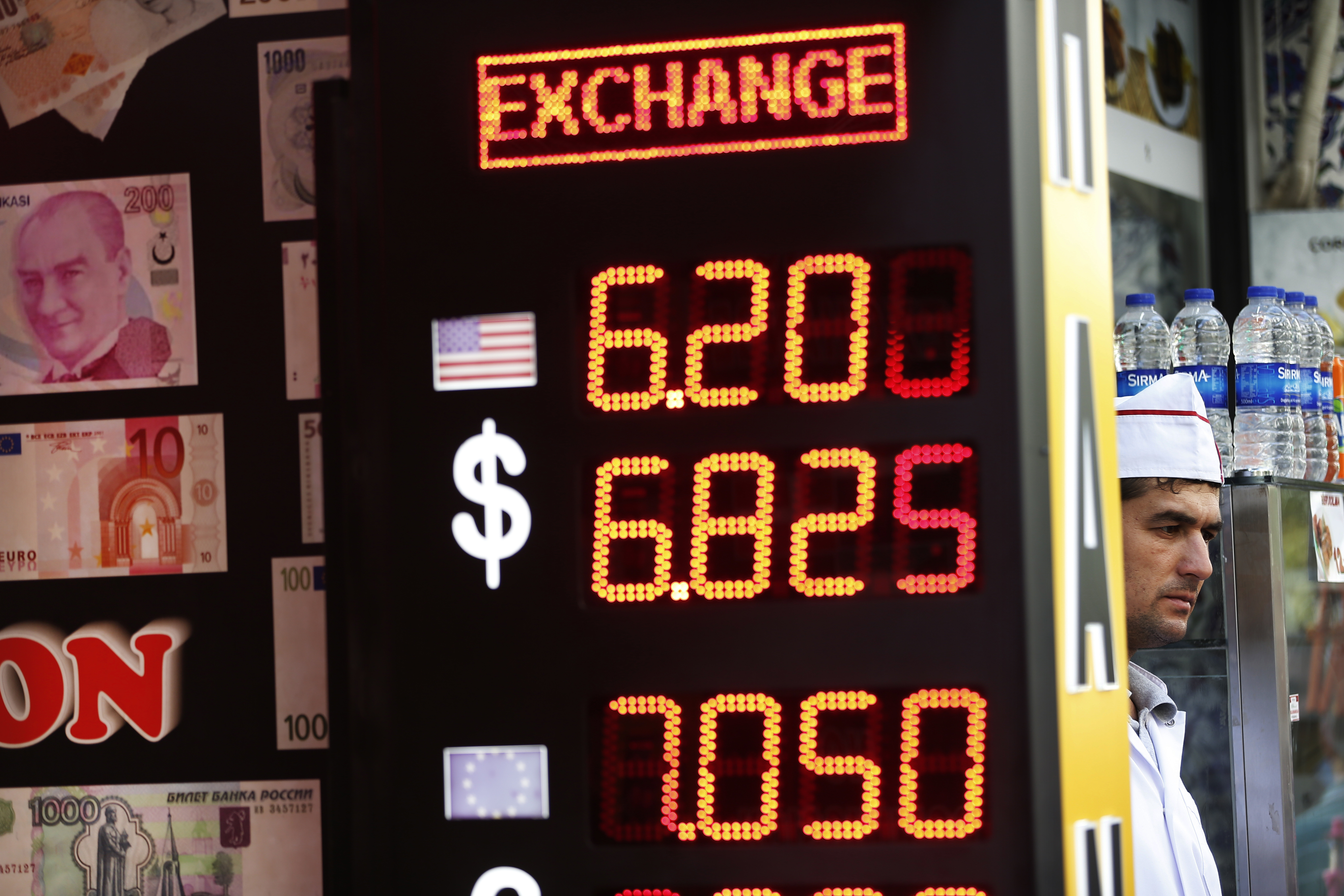 Currency exchange rates in Turkey