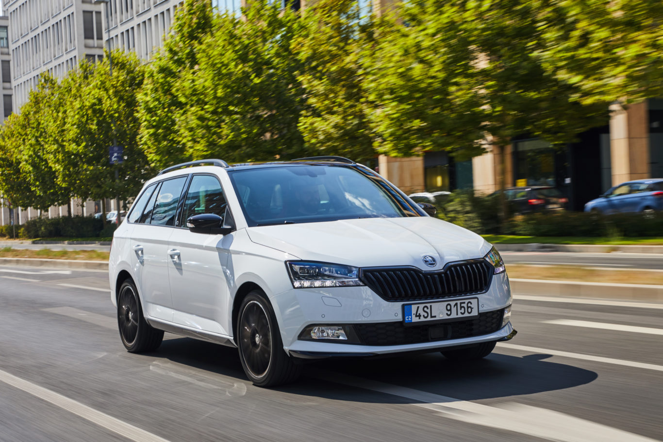 The updated Fabia features refreshed headlights