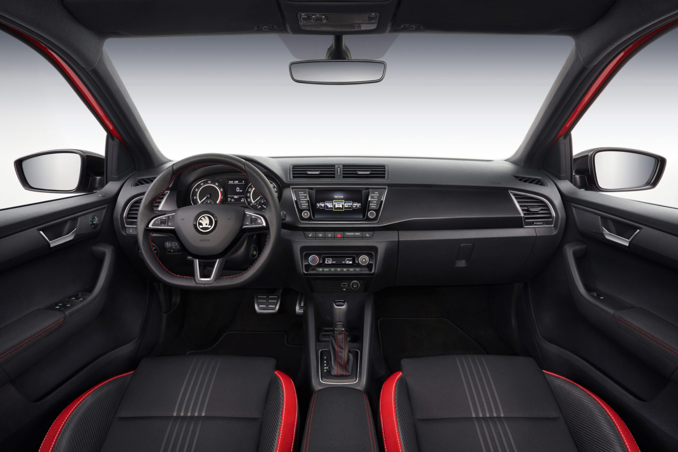 The interior of the car is solidly built