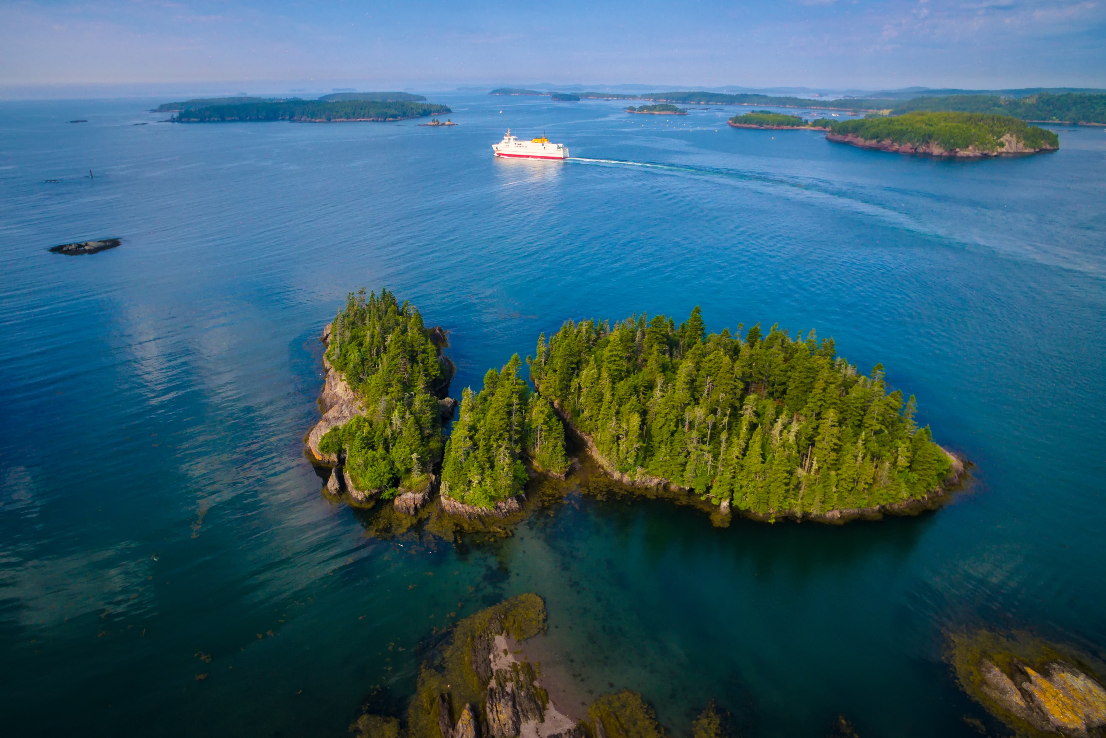 An aerial view of the Fundy Isles (Tourism New Brunswick/PA)