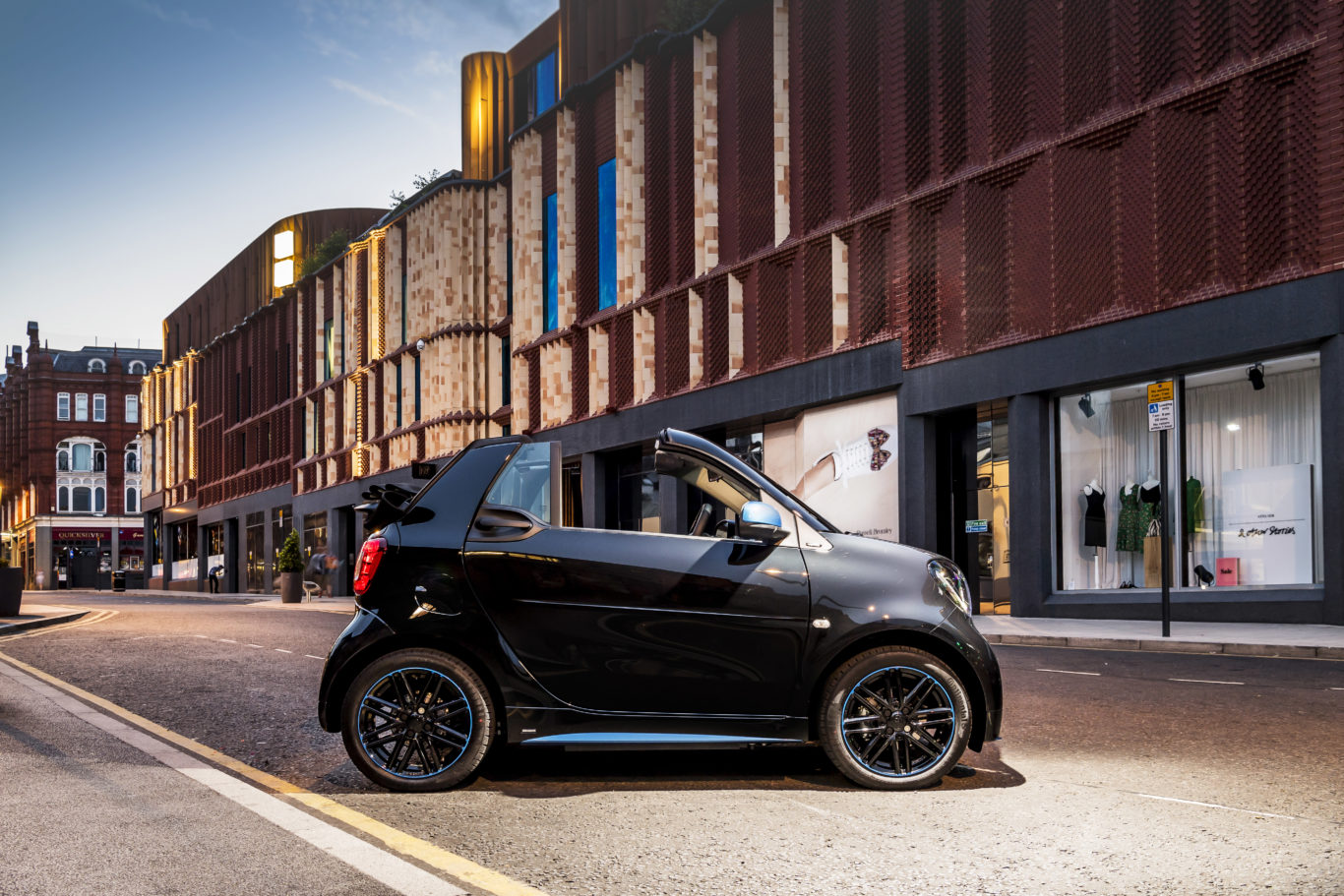 A compact size makes the ForTwo a great choice for urban drivers