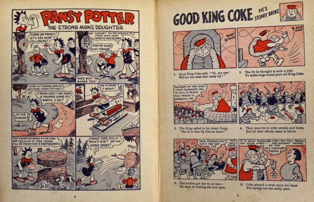 A cartoon spread inside the 1940 Beano annual (Andy Newman/ PA)