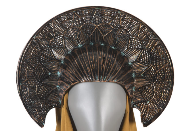 The intricate headpiece worn by Natalie Portman in Attack of the Clones
