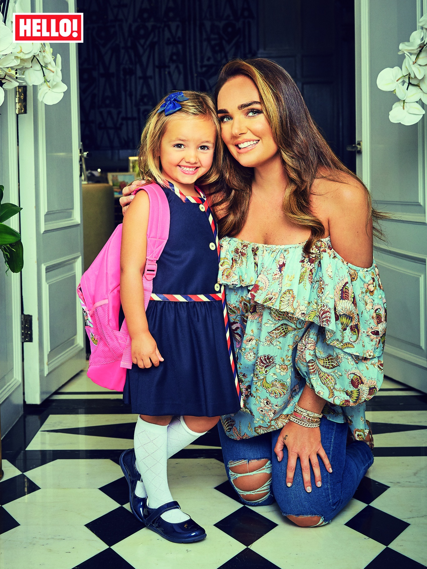 Tamara Ecclestone and her daughter Sophia
