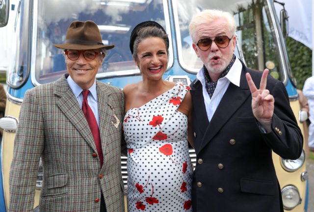 Chris Evans (right) and his wife Natasha with the Duke of Richmond