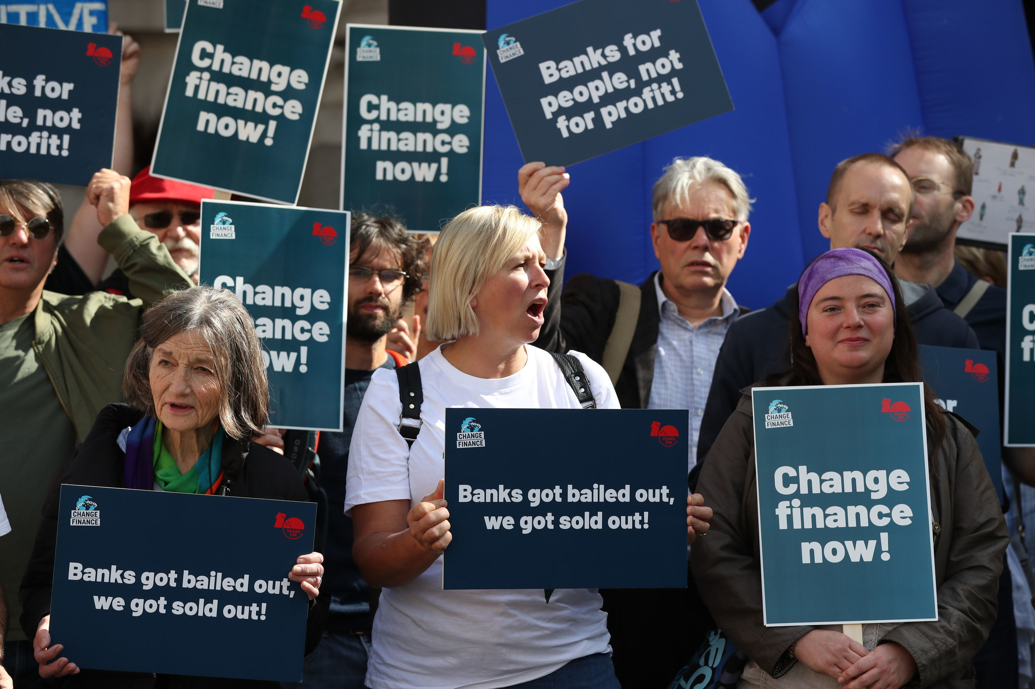 Credit crunch protest