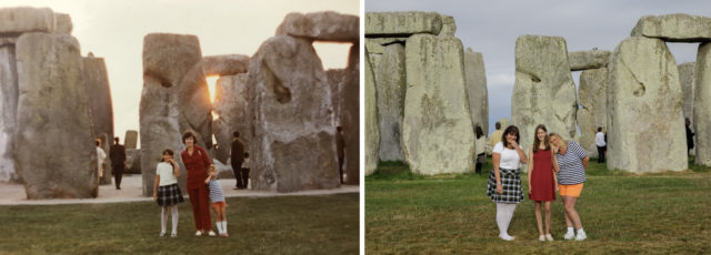 Helena Myska remembers stopping at Stonehenge on the way to Cornwall in 1971 when she was nine (Myska/English Heritage/PA)