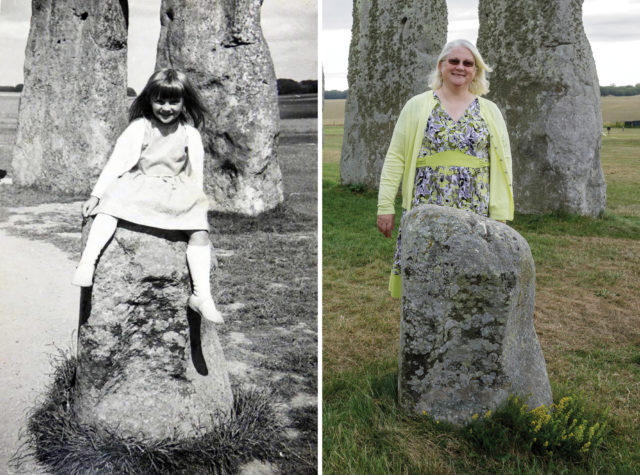 Jane Vellender remembers playing among the stones on a family day out when she was five, in the 60s (Vellender/English Heritage/PA)