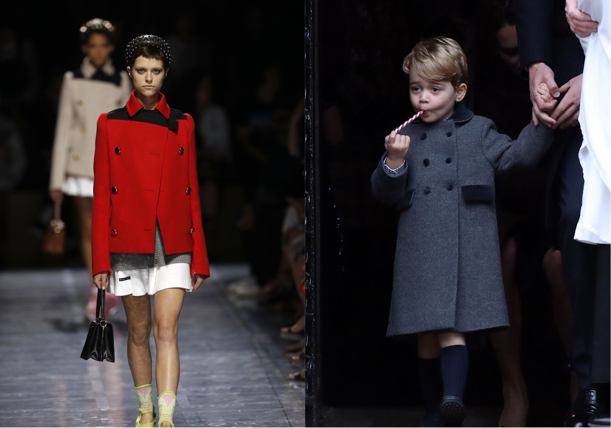 Prada model and George