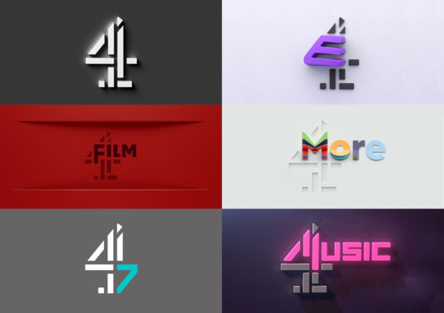 The new logos of Channel 4's stations