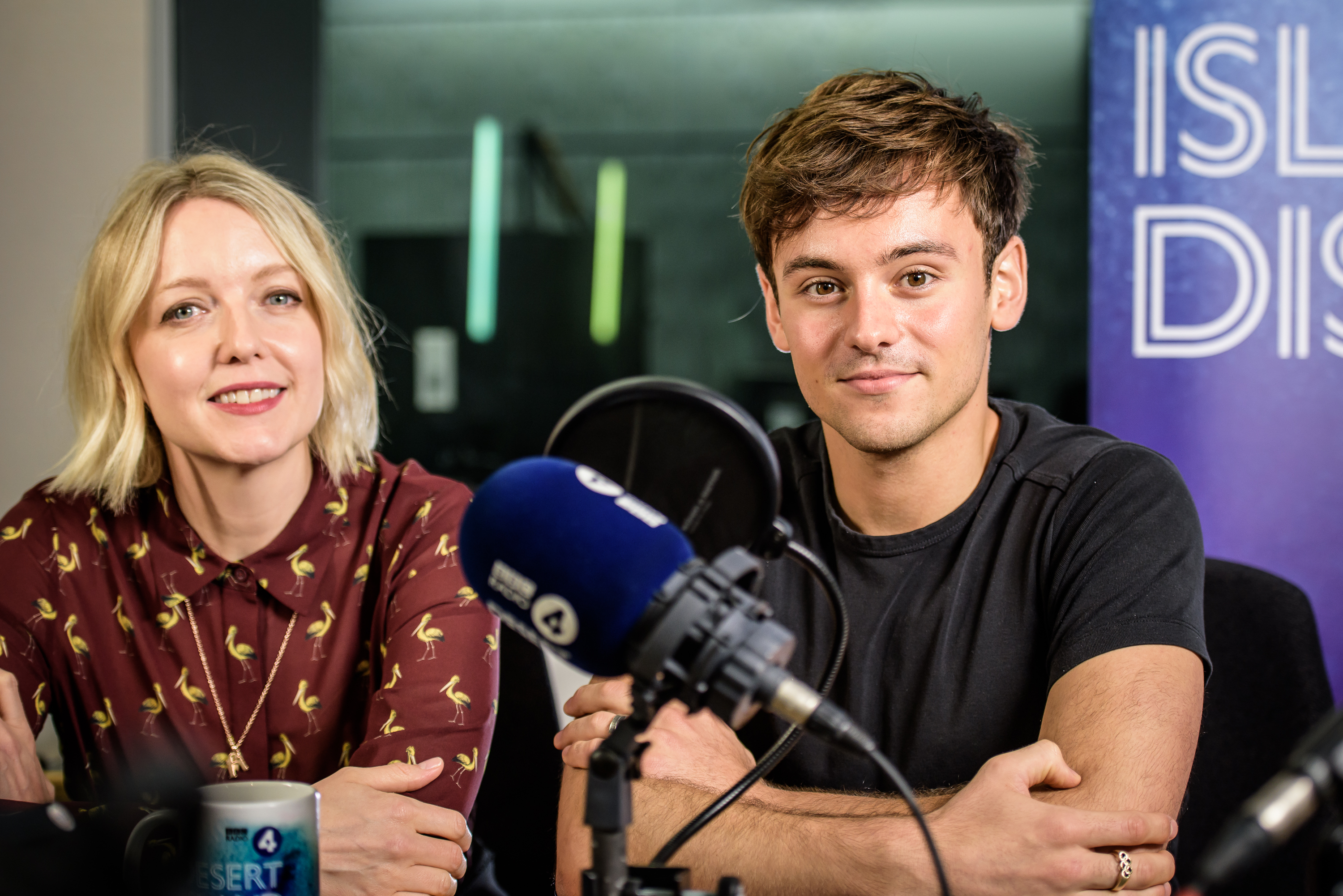 Tom Daley and Lauren Laverne