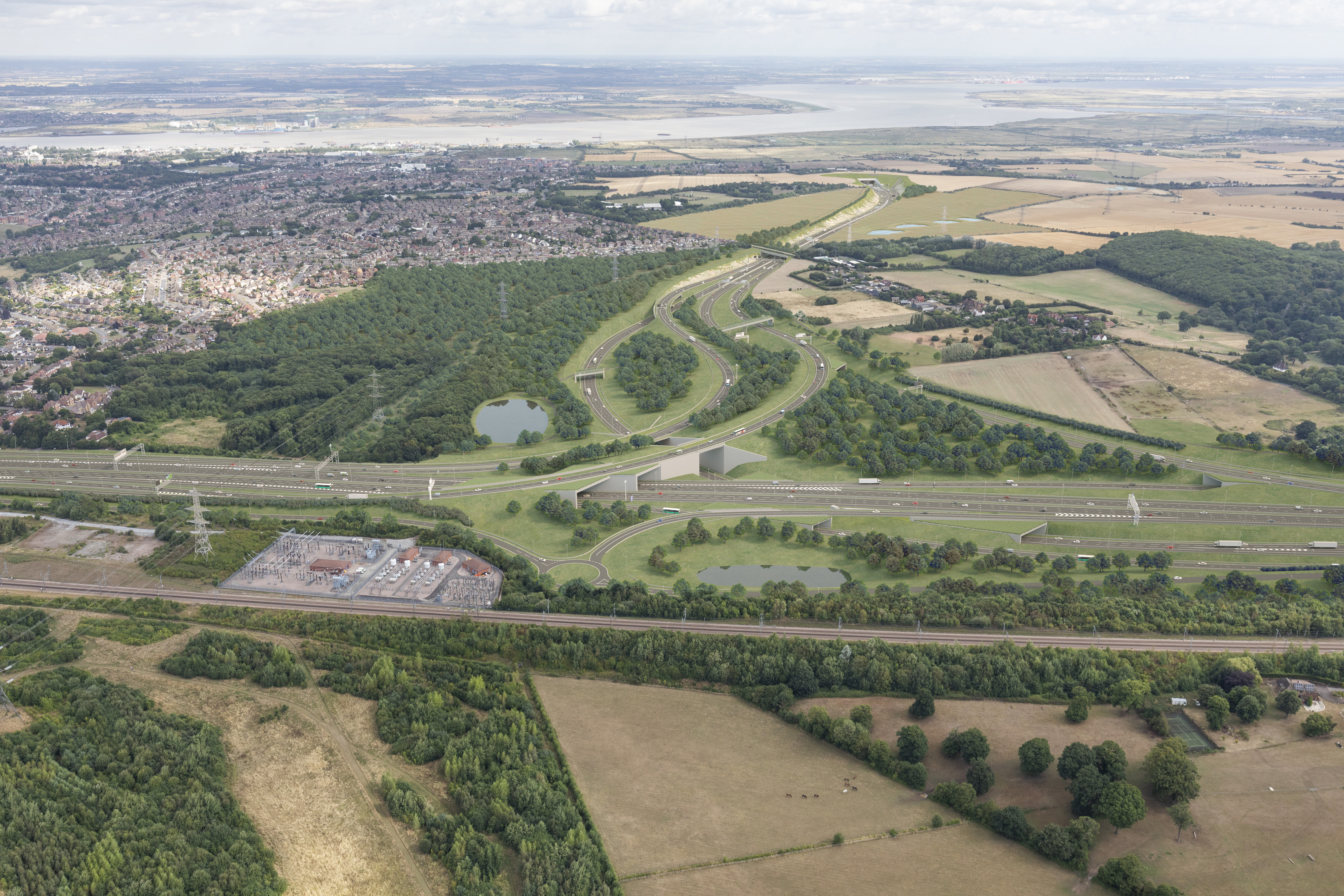 The route is expected to transform travel for motorists crossing the Thames east of London (Highways England/PA)