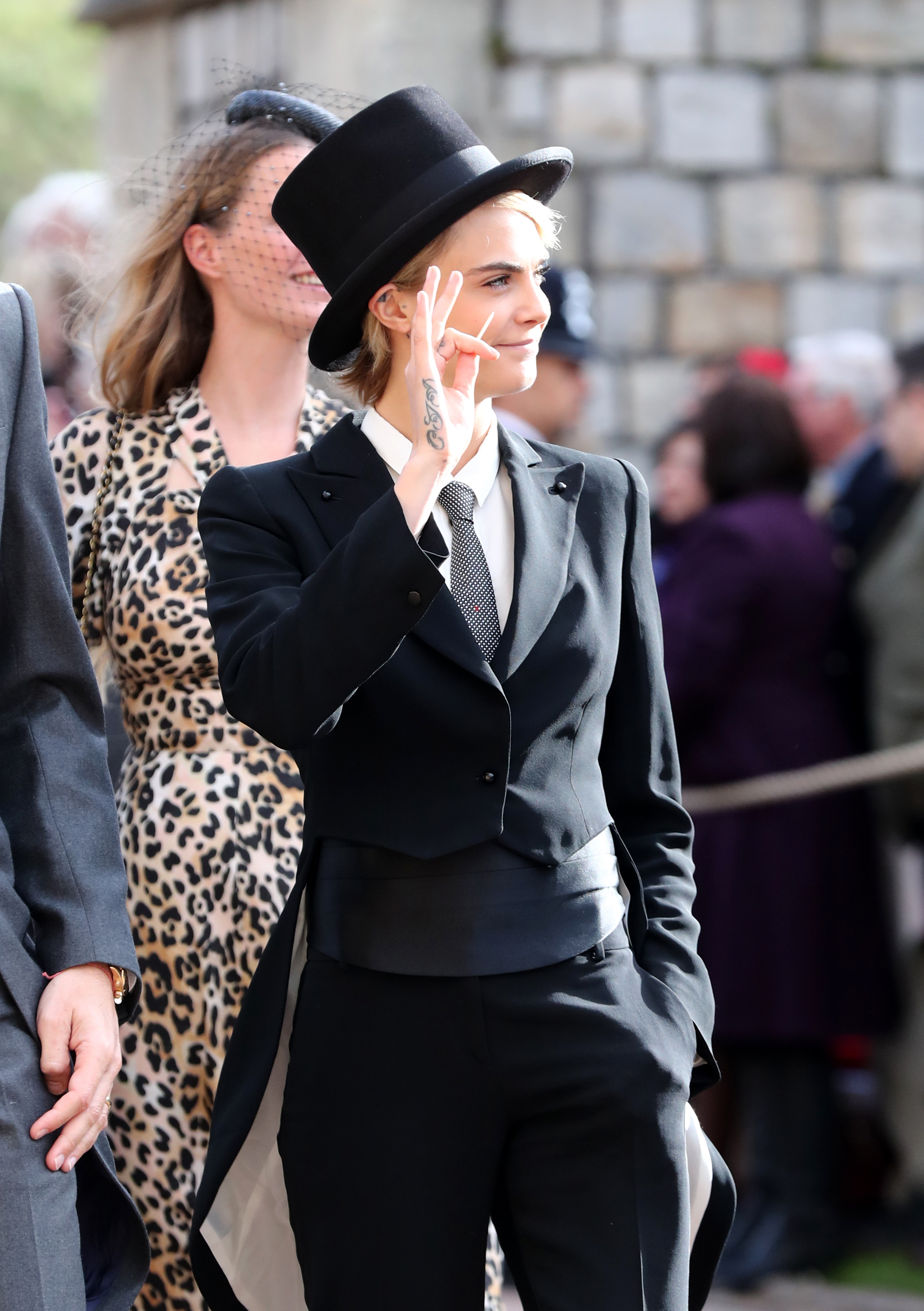 From Meghan And Kate To Naomi Cara All The Guest Fashion Coat Dan Long Blazer Delevingne Gareth Fuller Pa