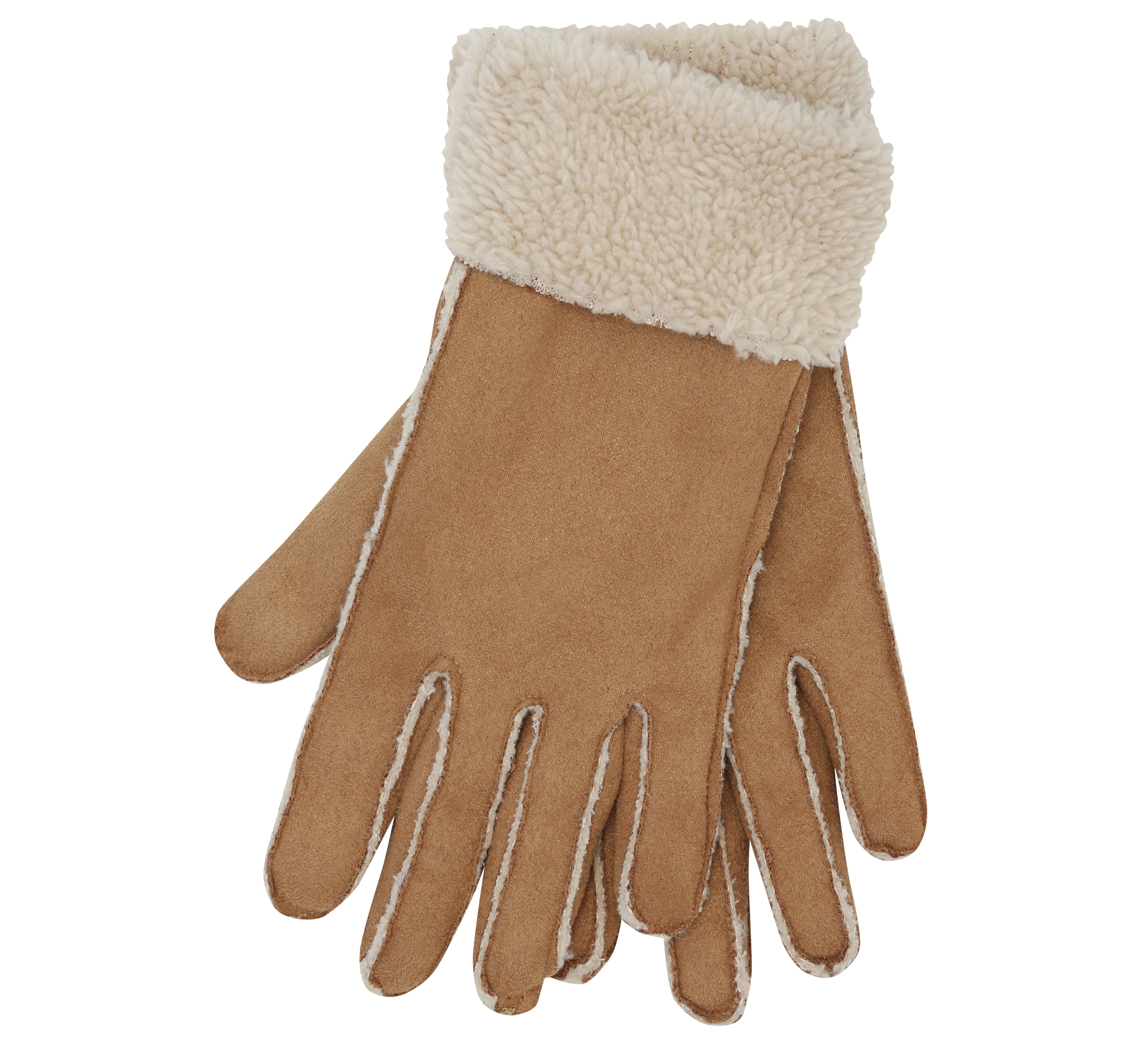 M&Co Faux Sheepskin Gloves