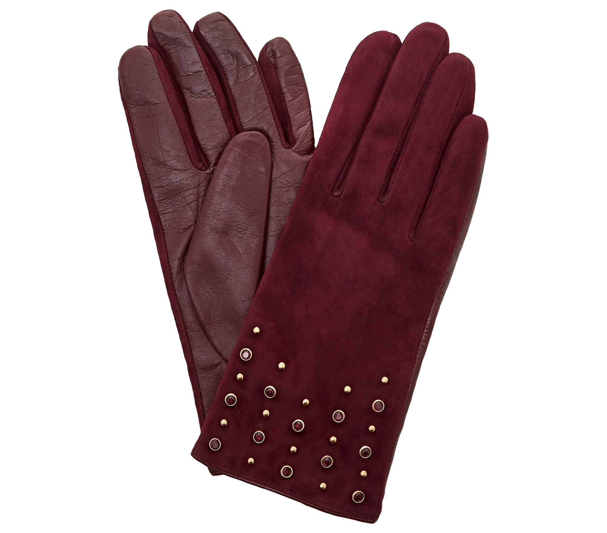 Dune Irennie Berry Embellished Gloves
