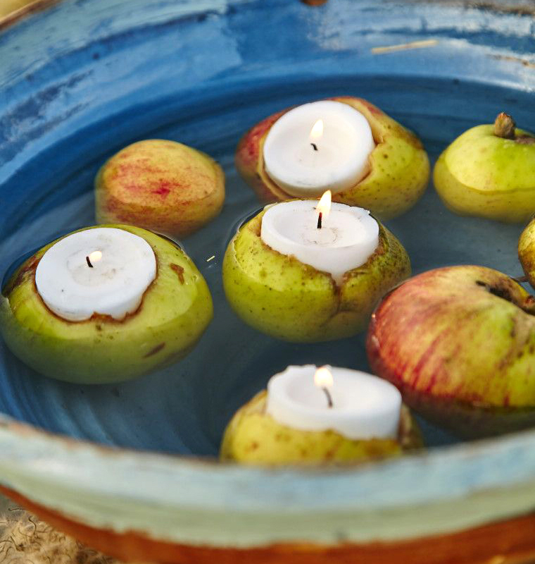 Apples made into tealights