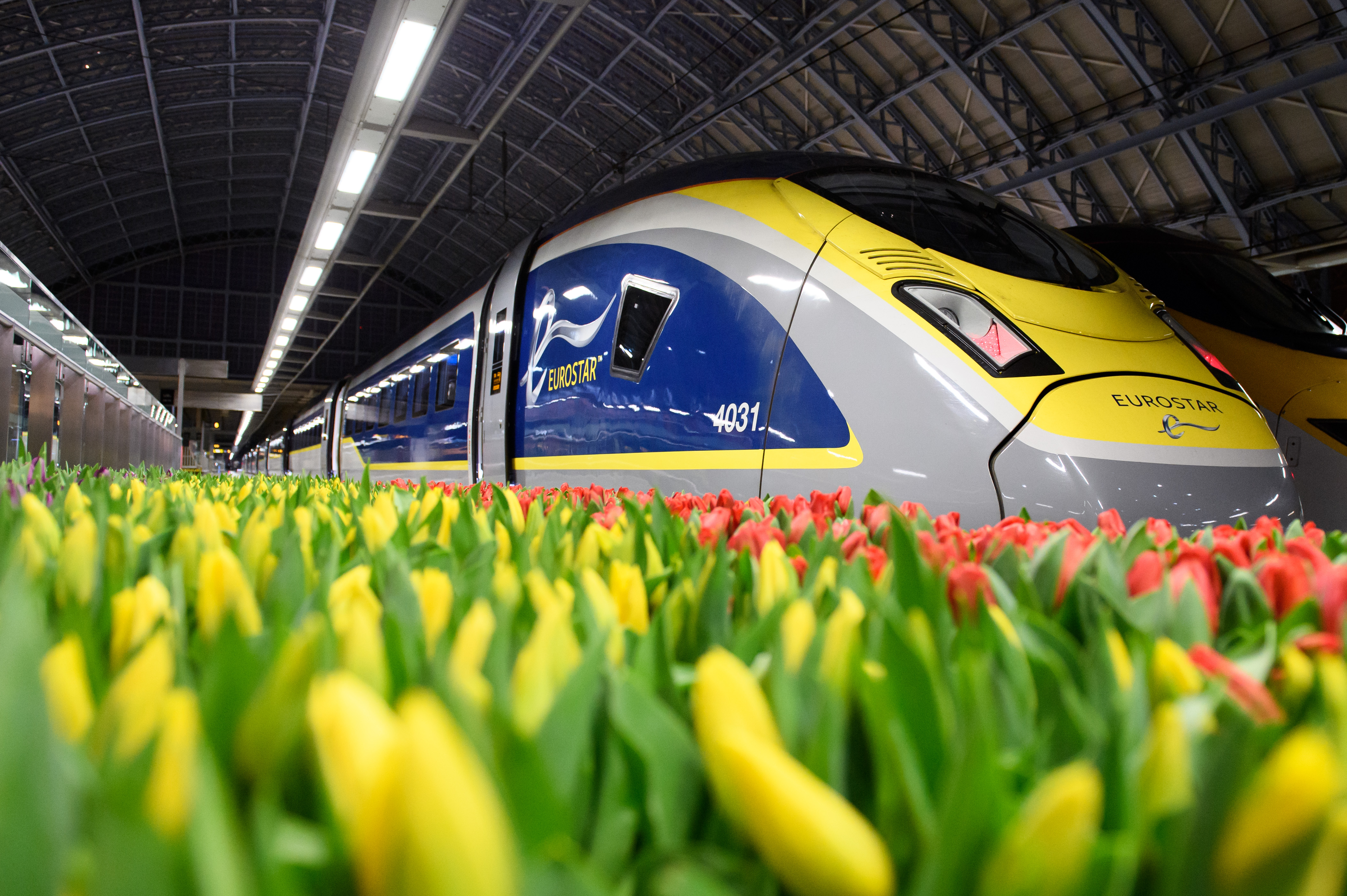 The fastest trains from London to Amsterdam take three hours and 41 minutes (Eurostar/PA)