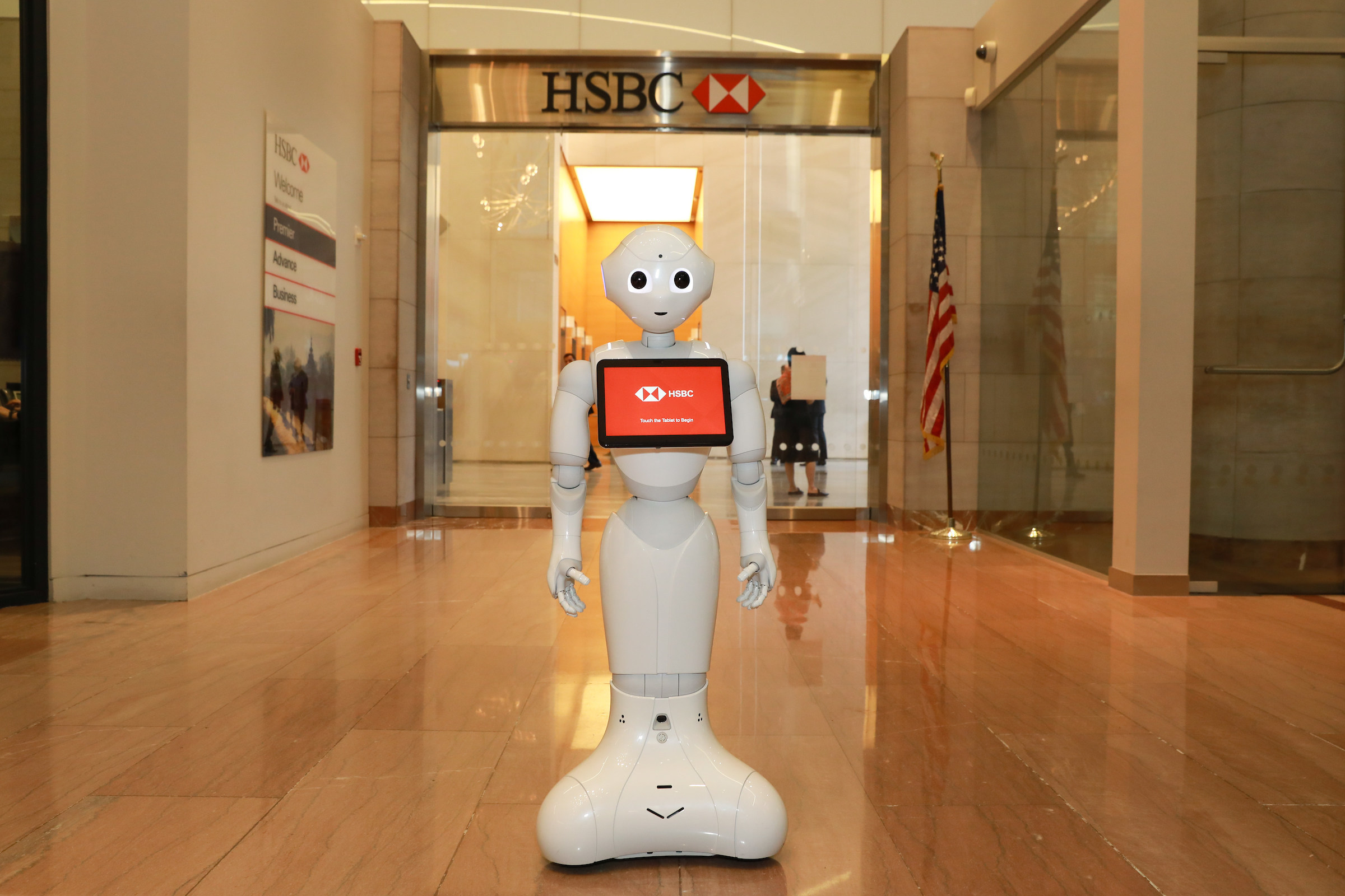 Pepper the robot at HSBC