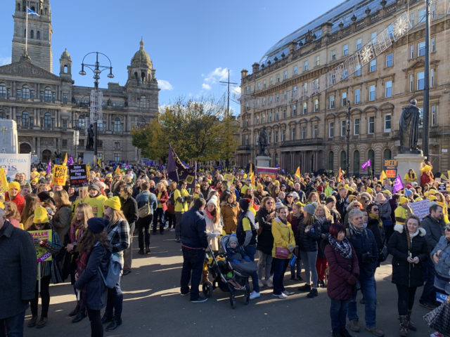 Teacher march  30,000 march through Glasgow calling for increase in teachers' pay 302b3a56 7155 4bfb 9116 2f3f685ec98f 640x480