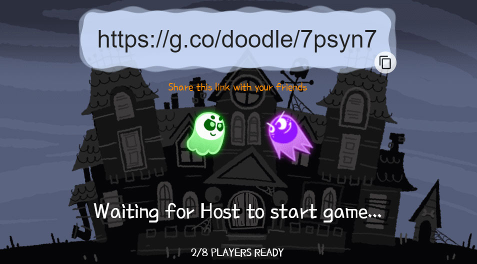 google introduces its first multiplayer doodle game for halloween