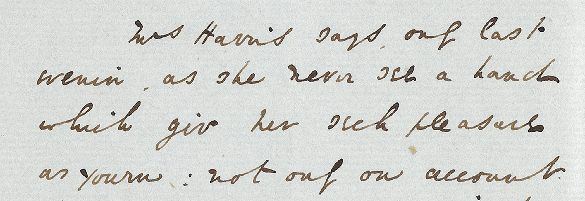 An extract from a letter sent by Charles Dickens to Marion Ely