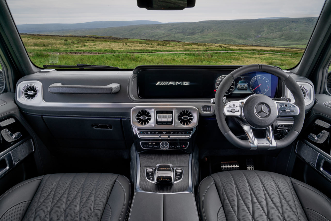 The interior of the G63 has been finished to a very high standard