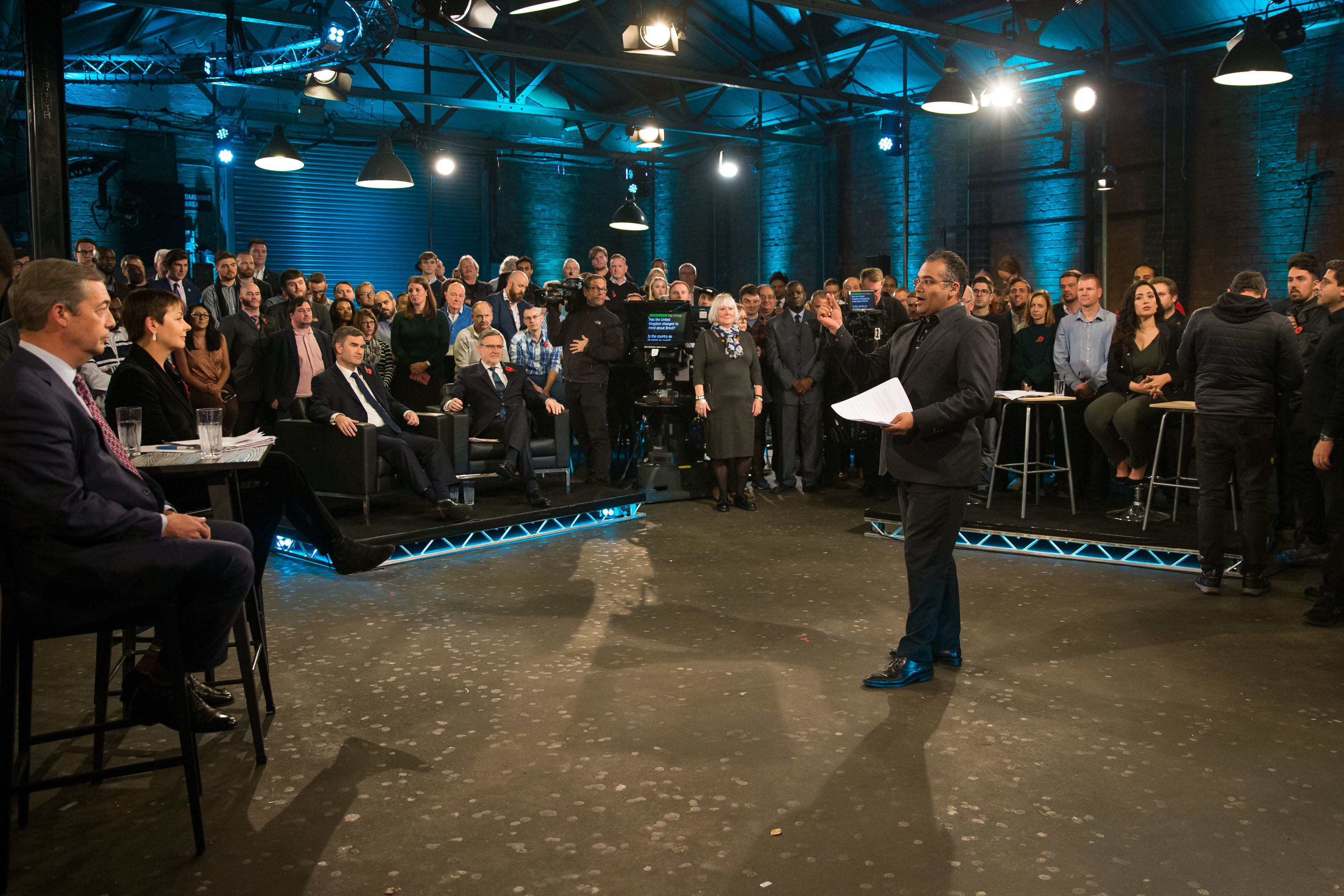 Channel 4's Brexit debate at Custard factory, Birmingham