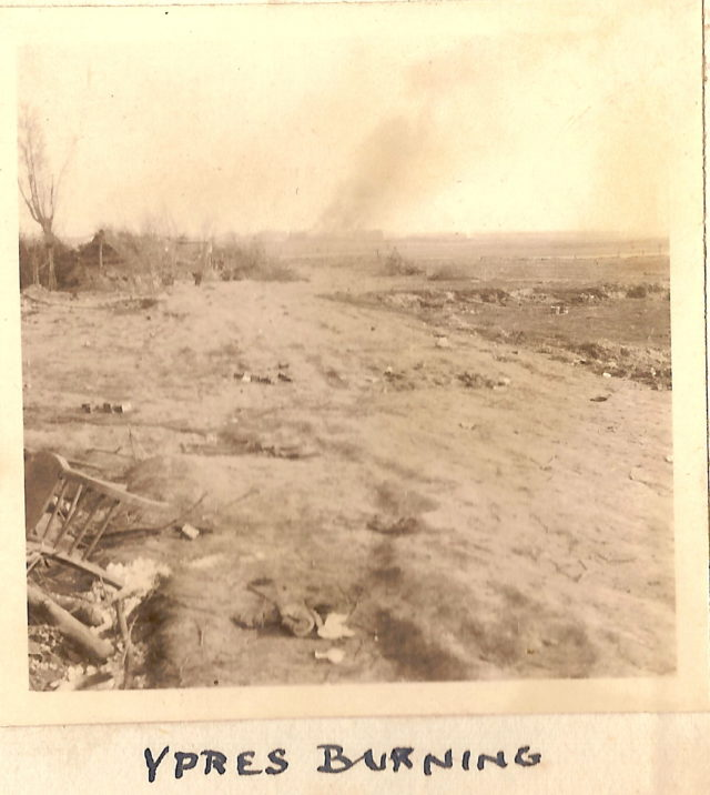 A photograph of Ypres, believed to have been taken in January 1915 (R.H.E. Bennett/PA)