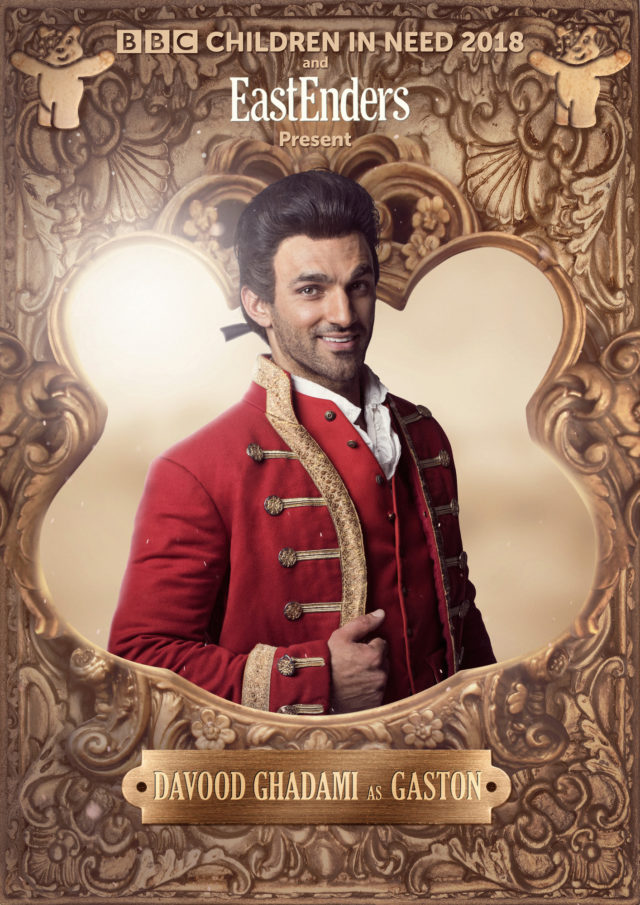 Davood Ghadami as Gaston (Nicky Johnson/BBC)